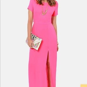 Lulus's Don't Call it a Comeback Pink Maxi Dress
